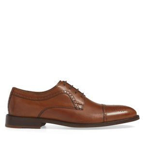 Johnston & Murphy NEW Cap Toe derby leather shoes